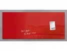 ,glasmagneetbord Sigel Artverum 1300x550x15mm rood