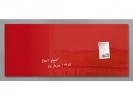 ,glasmagneetbord Sigel Artverum 1300x550x15mm rood