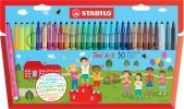 ,<b>Viltstift STABILO Trio A-Z etui à 30 kleuren</b>