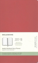 Moleskine 2017-18 Weekly Notebook DiaryPlanner Large Scarlet Red