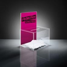 , aktiebak Sigel transparant 22x17x30 cm + insteek voor A4