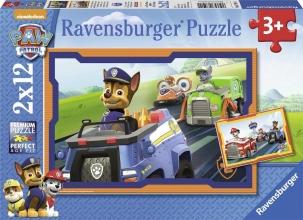 Rav-075911 , Puzzel paw patrol in actie - 2 x 12