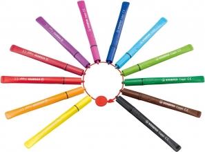 , Viltstift STABILO Cappi 168 etui à 12 kleuren