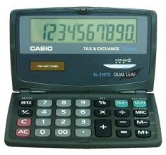 , Rekenmachine Casio SL-210TE