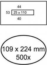 , Envelop Quantore 109x224mm venster 2,5x11mm midden 500stuks