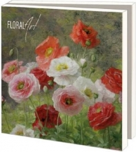 Wmc952 , Notecards 10 stuks 15x15 floral art