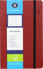 520lux118.ro , Studieagenda luxe 18 mnd soft cover rood
