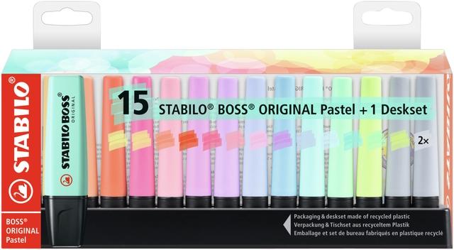 ,Markeerstift Stabilo Boss Original 7015-02-5 desk pastel ass