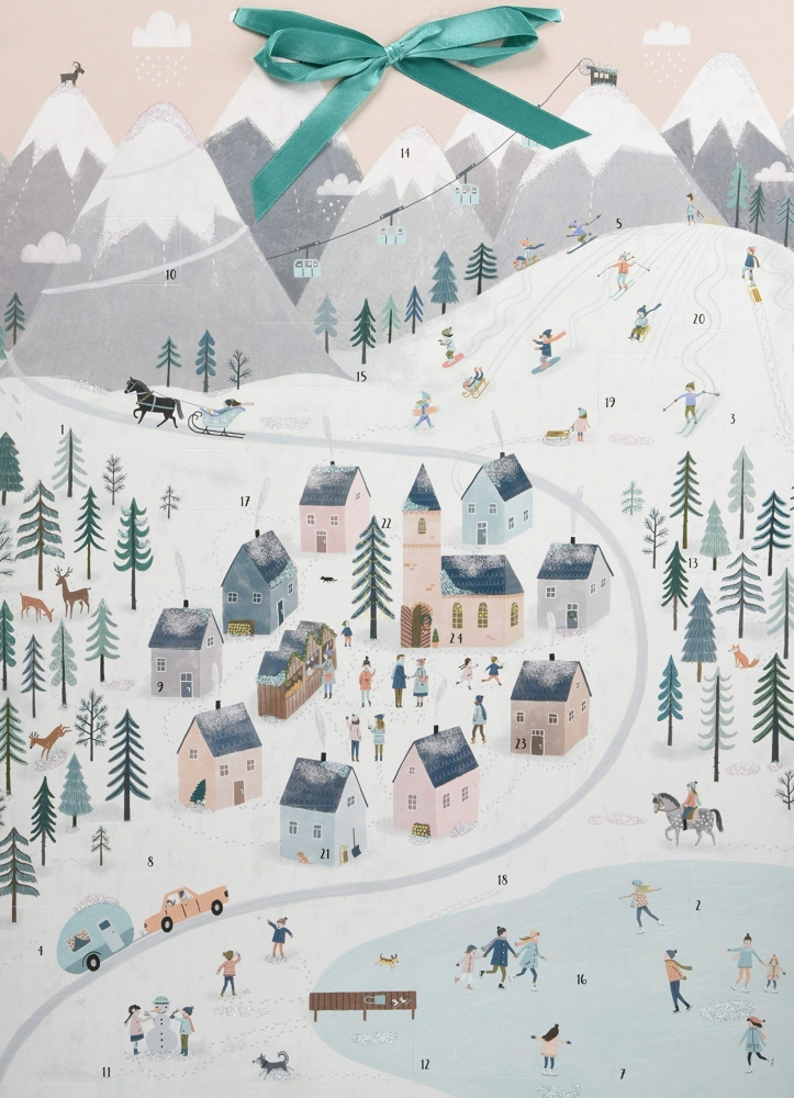 ,Wand-Adventskalender - Winterpanorama