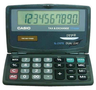 ,Rekenmachine Casio SL-210TE