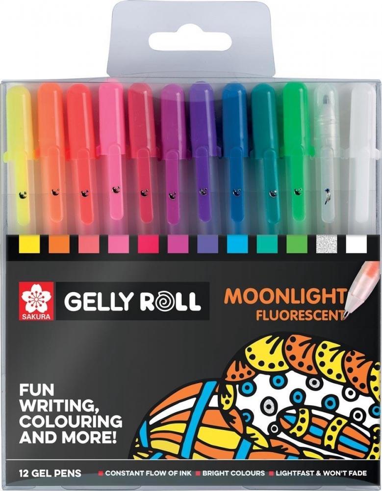 ,Gelschrijver Sakura Gelly Roll Moonlight blister à 12 stuks assorti