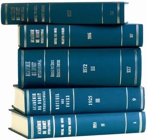 Académie de Droit International de la Haye / Hague Academy of International Law,Recueil des cours, Collected Courses, Tome 406