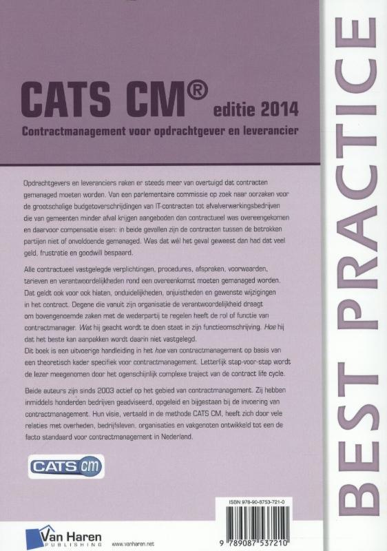 Jan van Beckum, Gert-Jan Vlasveld,CATS CM Editie 2014