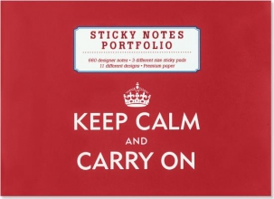 Keep Calm & Carry on Sticky Notes Portfolio