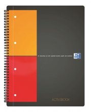 , Spiraalblok Oxford International Activebook A4+ ruit 5mm