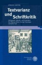 Meyer, Jürgen Textvarianz und Schriftkritik