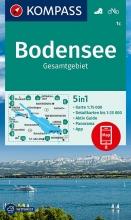 KOMPASS-Karten GmbH , KOMPASS Wanderkarte Bodensee Gesamtgebiet