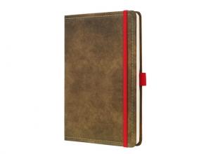 , notitieboek Conceptum 194blz hard Vintage Brown 135x203mm   gelinieerd