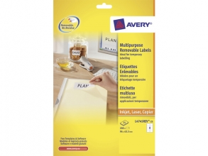 , etiket Avery ILK 96x63,5mm wit NP 25 vel 8 etiketten per vel