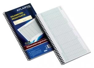 , Kilometer registratieboek Atlanta 40x2vel met spiraal