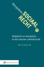 H.J.W.  Alt Stelplicht en bewijslast in het nieuwe arbeidsrecht
