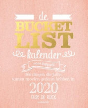 Elise de Rijck De bucketlistkalender voor koppels 2020
