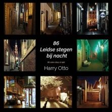 Harry Otto , 86 Leidse stegen bij nacht/86 Leiden alleys at night