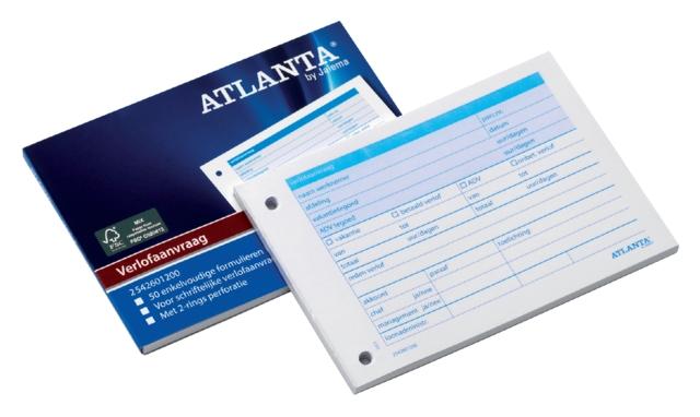 ,Verlofaanvraag Atlanta A6 105x148mm 50vel