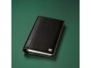 <b>telefoonringband Sigel Milano zwart rundleer, DIN lang,</b>,