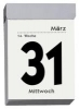 Tagesabreißkalender 301,Schlitzweite 21 mm, Standard