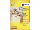 ,etiket Avery ILK 96x63,5mm wit NP 25 vel 8 etiketten per vel