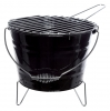 ,<b>Barbecue emmer staal zwart</b>