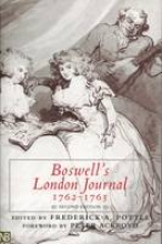 Boswell, James Boswell`s London Journal, 1762-1763