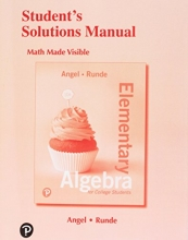 Allen R. Angel,   Dennis Runde Student`s Solutions Manual for Elementary Algebra