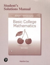 Elayn Martin-Gay Student`s Solutions Manual for Basic College Mathematics