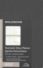 Moleskine Black Pocket 2017 Panoramic Diary Planner
