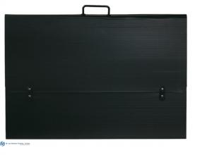 , Tekenkoffer Exacompta B2 52x72cm rugbreedte 30mm PP zwart