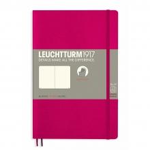 Lt358295 , Leuchtturm notitieboek softcover 19x12.5 cm blanco berry/kersenrood