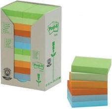 , Memoblok 3M Post-it 653 38x51mm recycled rainbow pastel