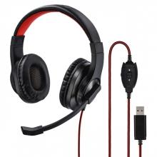 , Hoofdtelefoon Hama HS-USB400 over-ear zwart
