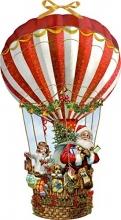 , Wandkalender - Weihnachtsballon