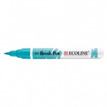 , Brushpen Talens Ecoline 522 turquoiseblauw