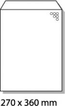 , luchtkussenenvelop Raadhuis 270x360mm H18 wit plakstrip     doos a 100 stuks