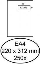 , Envelop Hermes akte EA4 220x312mm venster 4x11 rechts zelfkl 250st