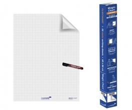 , Magic-Chart Legamaster flipchart 60x80cm wit met ruit