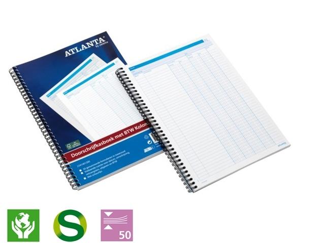 ,Doorschrijfkasboek Atlanta A4 50x2vel met BTW