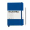 <b>Lt342707</b>,Leuchtturm notitieboek medium 145x210  lijn koningsblauw