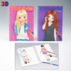 ,<b>Topmodel pocket kleurboek 3d</b>
