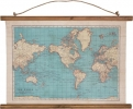 , Wereldkaart canvas vintage world map
