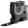 , Labeltape Dymo 45811 D1 720910 19mmx7m wit op zwart